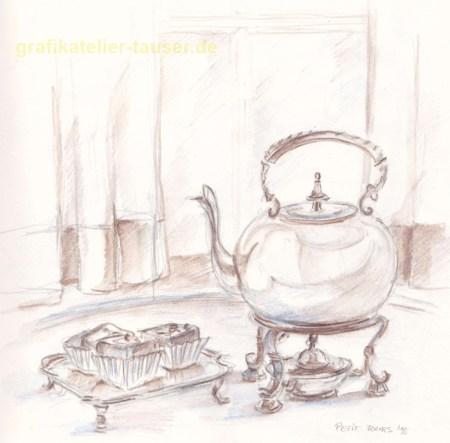 Petit fours zum Tee