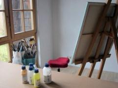 Atelier-Arbeitsplatz