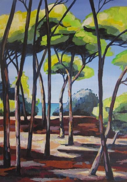 Pinienwald am Meer