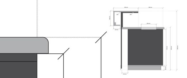 technische zeichnung, profilzeichnung, möbelzeichnung, interior design, illustration, grafik,bemaßung, gestaltung, media design, architektur