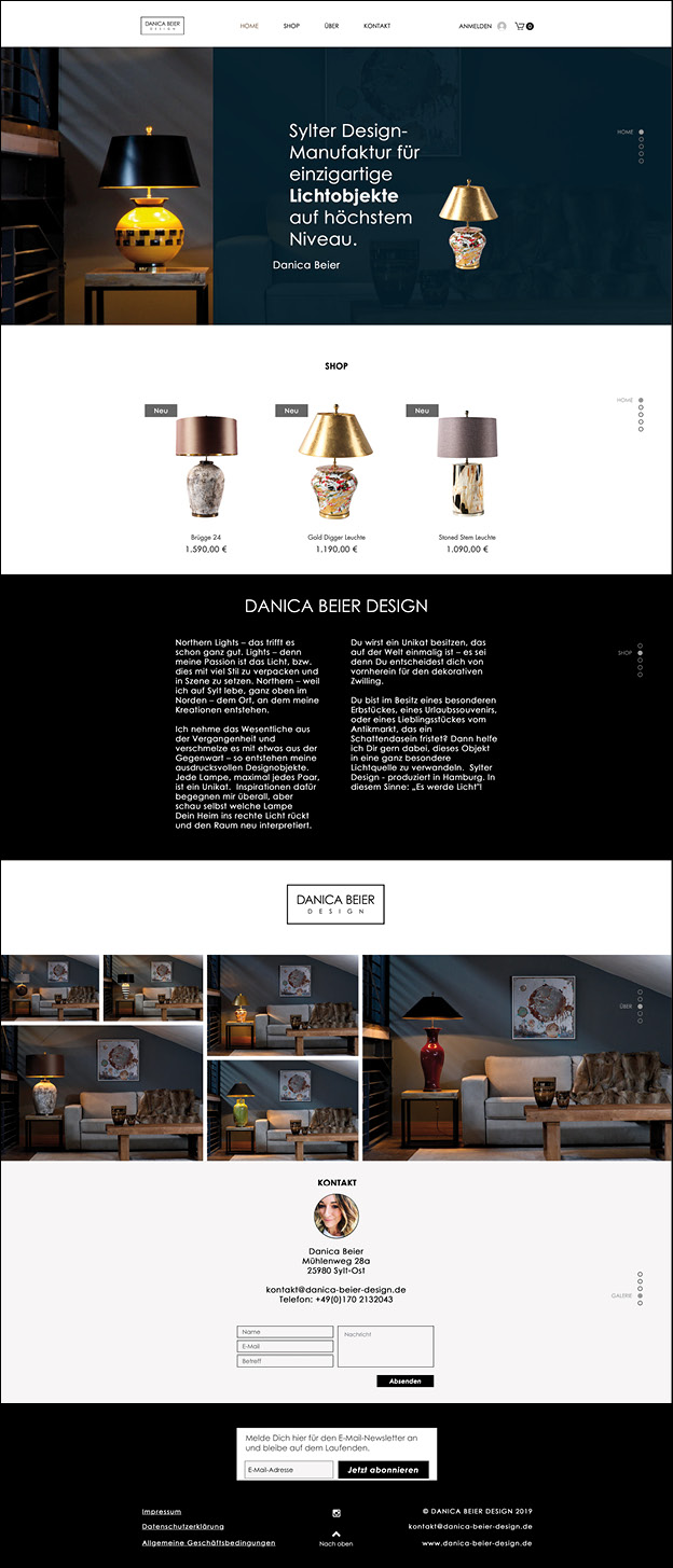 Danica Beier Webdesign, website, grafikdesign, mediadesign, waldbrand media, Grafikdesign Ruhrgebiet, cms, 2019