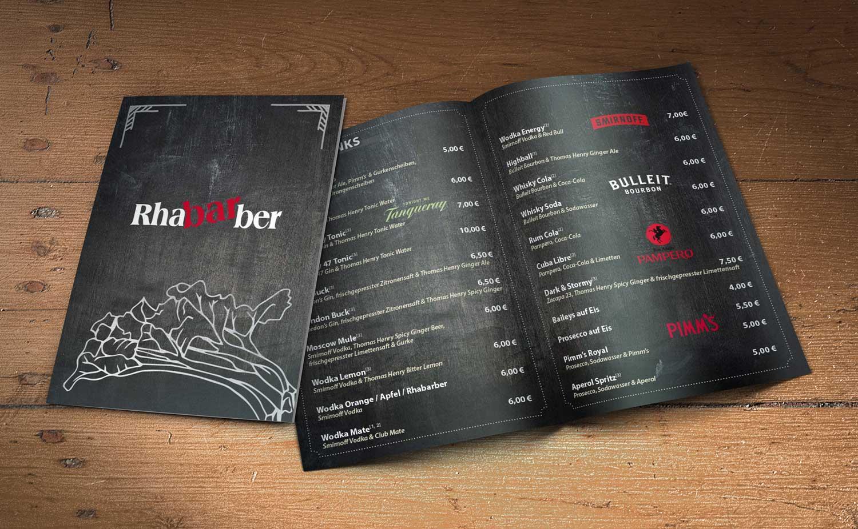 Speise und Getrnkekarten  Grafist Werbeagentur