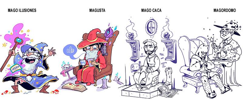 ilustraciones de Sabrina Camara para el GRAN LIBRO DE LOS MAGOS