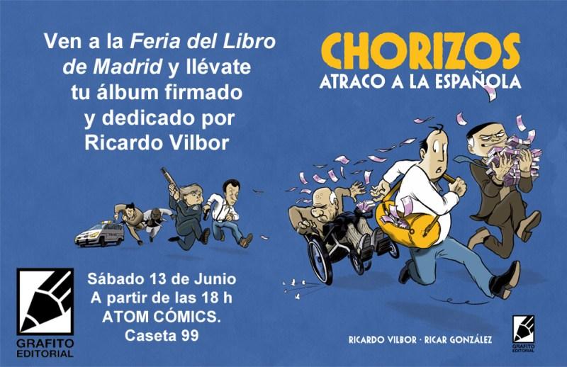 cartel feria libro 2015 madrid chorizos atom