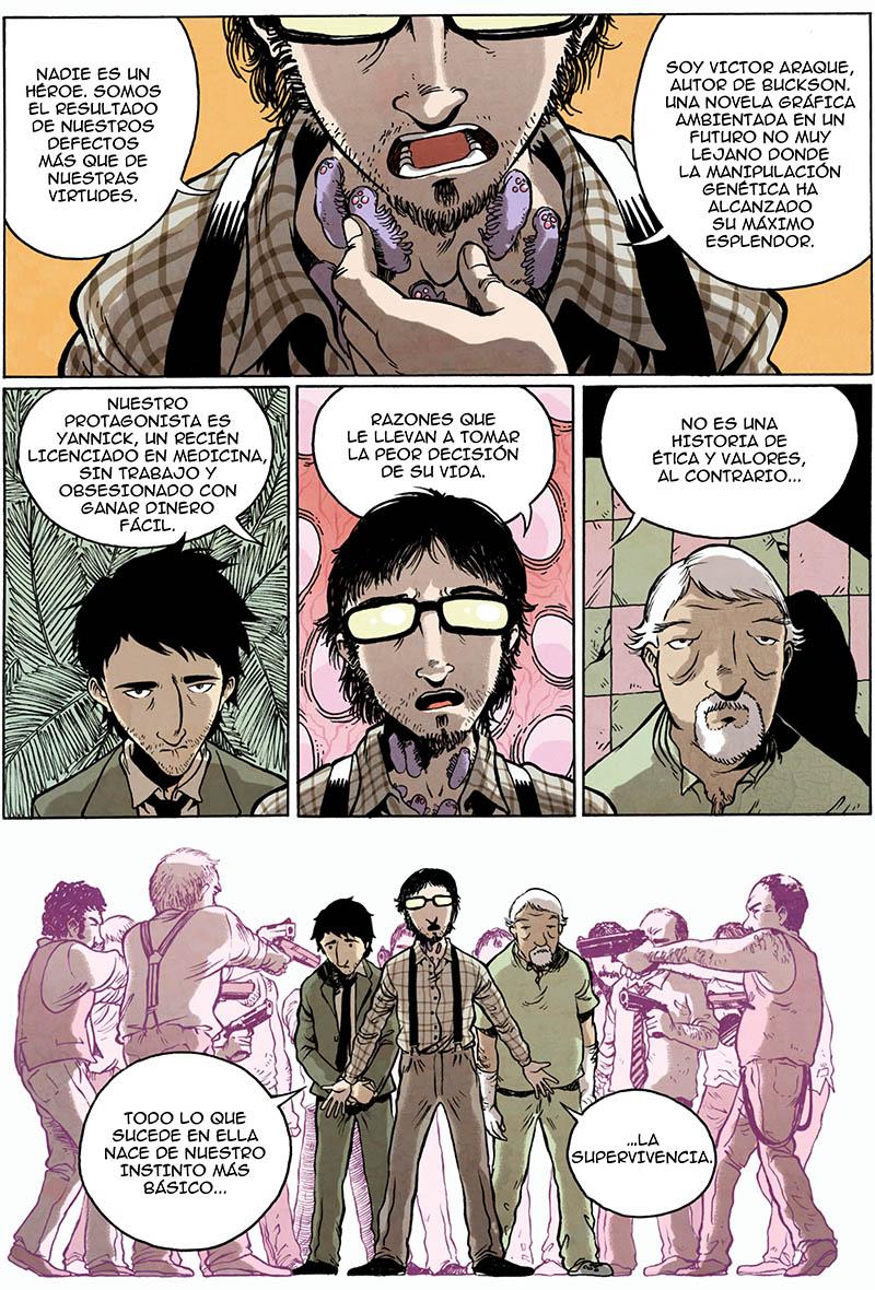 Victor Araque nos habla de su cómic BUCKSON, un triller médico donde la supervivencia es lo más importante