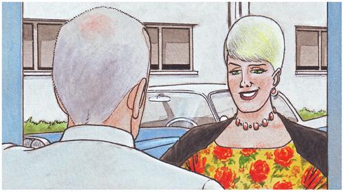 Claire, la prostituta preferida del doctor Dunne. Cazador de sonrisas.
