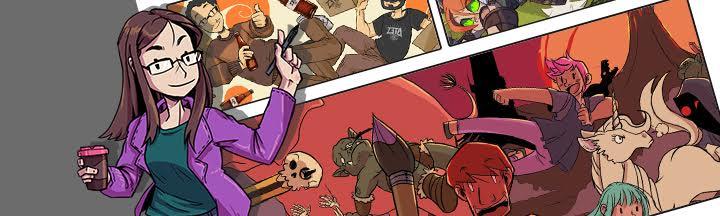 Delfina Palma, colorista de el cómic El Piso 3ºVIL con Aitor Erana