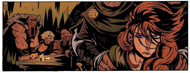 Sigrid, princesa de los Normandos en EL REY ARAÑA, una novela grafica de GRAFITO EDITORIAL