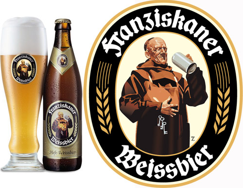 imagen de la botella y el logo de la franziskaner weissbier