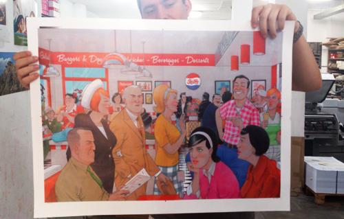 Ya están impresos los posters con los personajes del cómic Cazador de sonrisas. Este poster a todo color se regalará a los primeros en comprar el cómic
