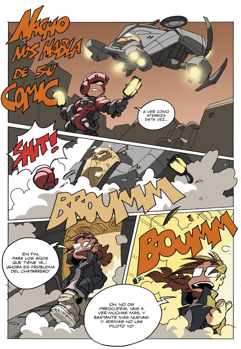 promo 01 del cómic Los mundos de Valken de Nacho Fernandez