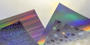 silver decorative holographic sheets and film