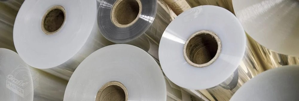 Rolls of plastic film and sheets