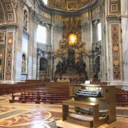 New Allen Organ G330 being setup for 2017 CHristmas Mass at the Basilica of St. Peters, Vatican