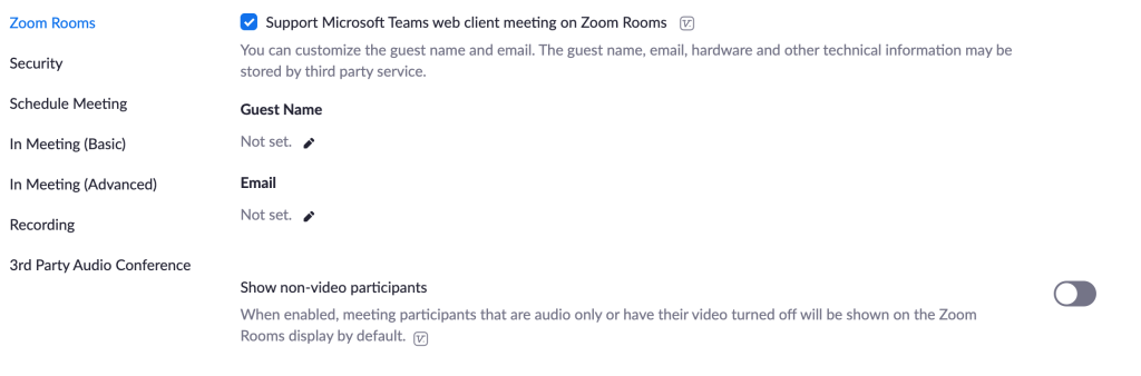 Guest Join for Microsoft Teams on Zoom Rooms