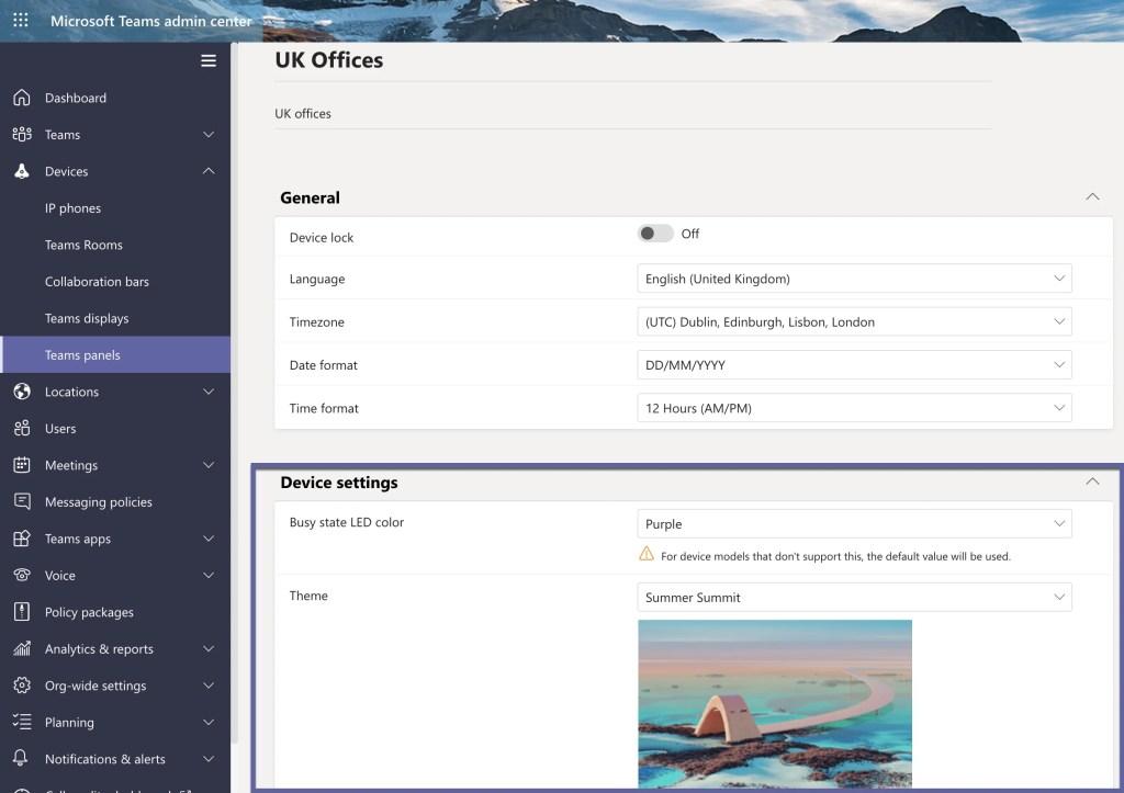 Teams Admin Center Configuration Profile
