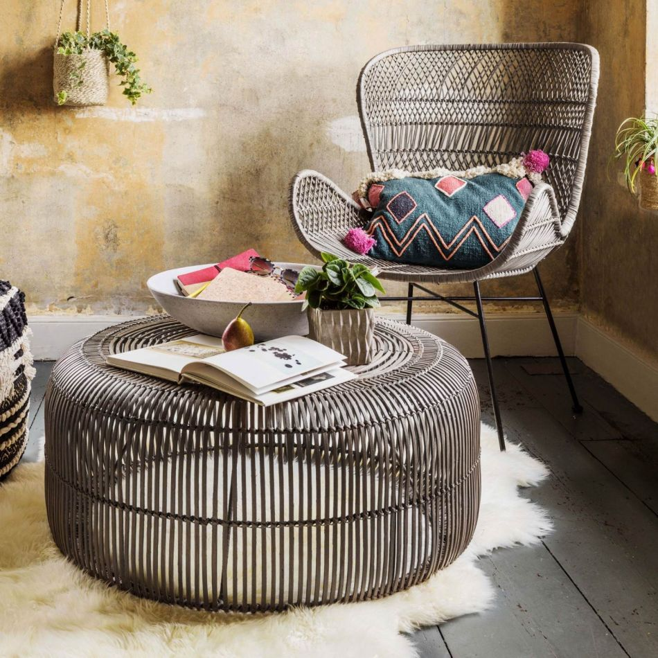 oslo clay rattan coffee table