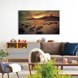 Dunstanburgh Castle sunrise print and canvas