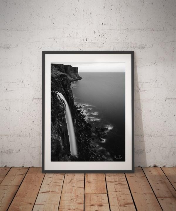 Mealt Falls Isle of Skye Black and White Print