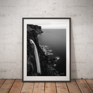 Mealt Falls Isle of Skye Black and White Print