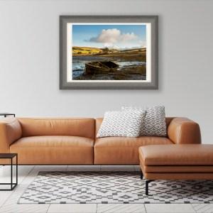 Old Boat on Skye framed print