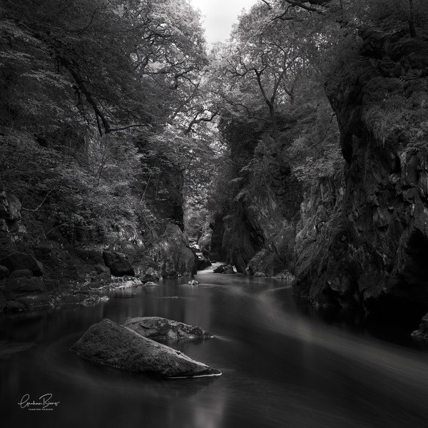 Fairy Glem Betws-y-coed Wales Black and White