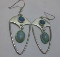 Silver opal earrings Australian opal earrings,black opal ...