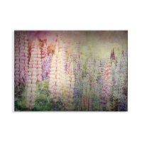 Bright Metallic Meadow Printed Canvas Wall Art - GrahamBrownUK