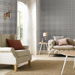 Amazing Living Room Wallpaper Asian Colors For Feature Wall Graham Brown Large Tartan Silver