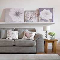 Lilac Bloom Printed Canvas Wall Art - GrahamBrownUK
