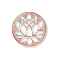 Copper Lotus Blossom Metal Wall Art - GrahamBrownUS