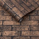 Metallic Brick Bronze Black Wallpaper Grahambrownrow