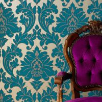 Majestic Teal Wallpaper | Damask Wallpaper | Graham & Brown
