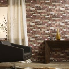 Wallpaper Living Room Wall Ideas With Brown Corner Sofa Wallcoverings For Rooms Large Red Brick