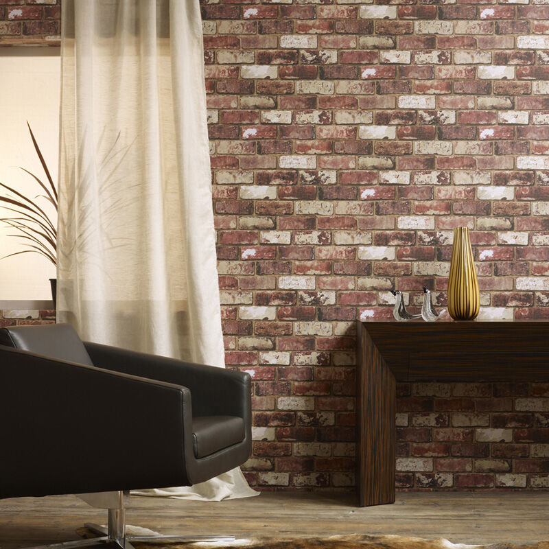 wall paper for living room virtual interior design wallpaper wallcoverings rooms large red brick