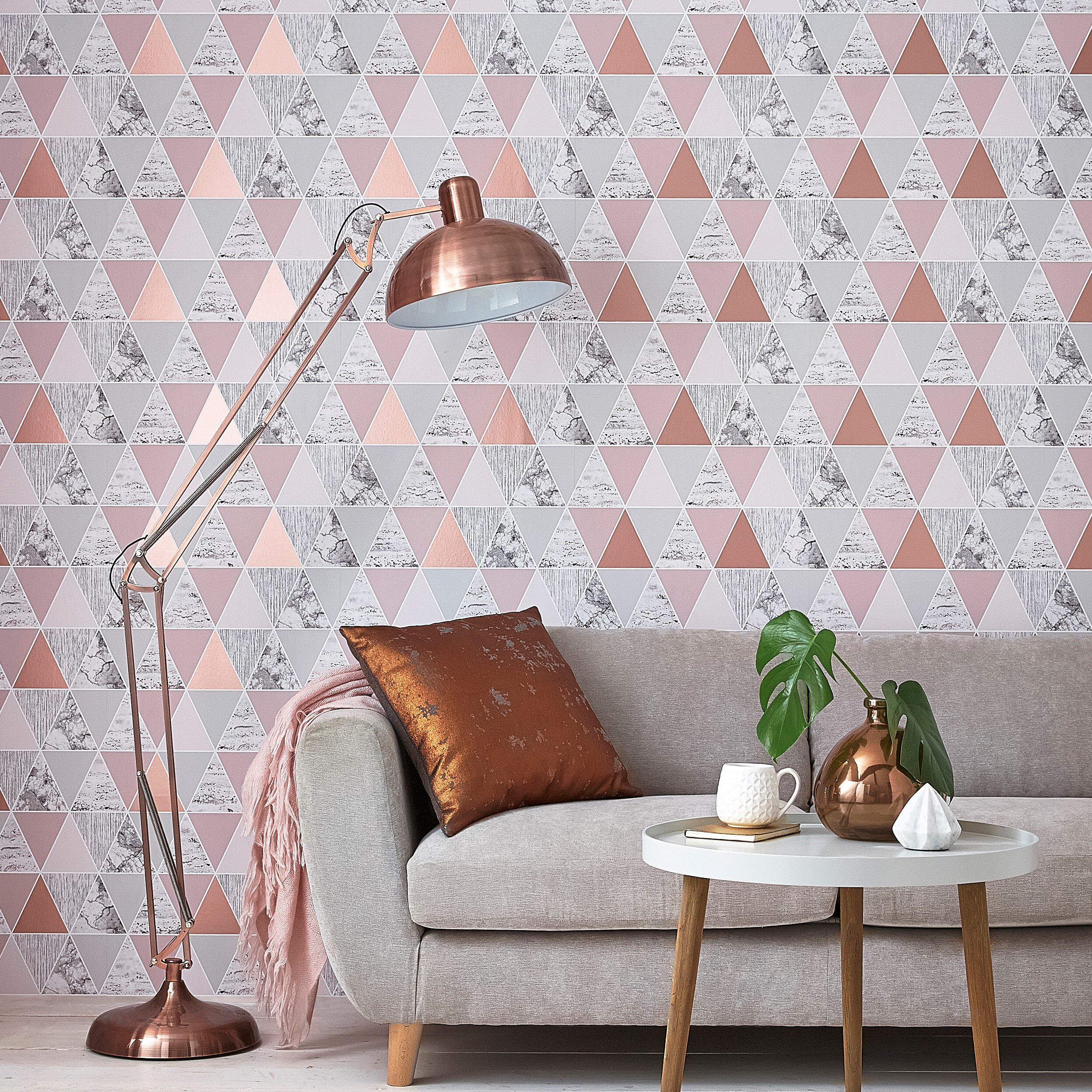 amazing living room wallpaper rooms decorated feature wall graham brown large rose gold reflections
