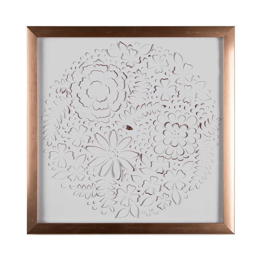 rose gold petals framed wall art grahambrownus