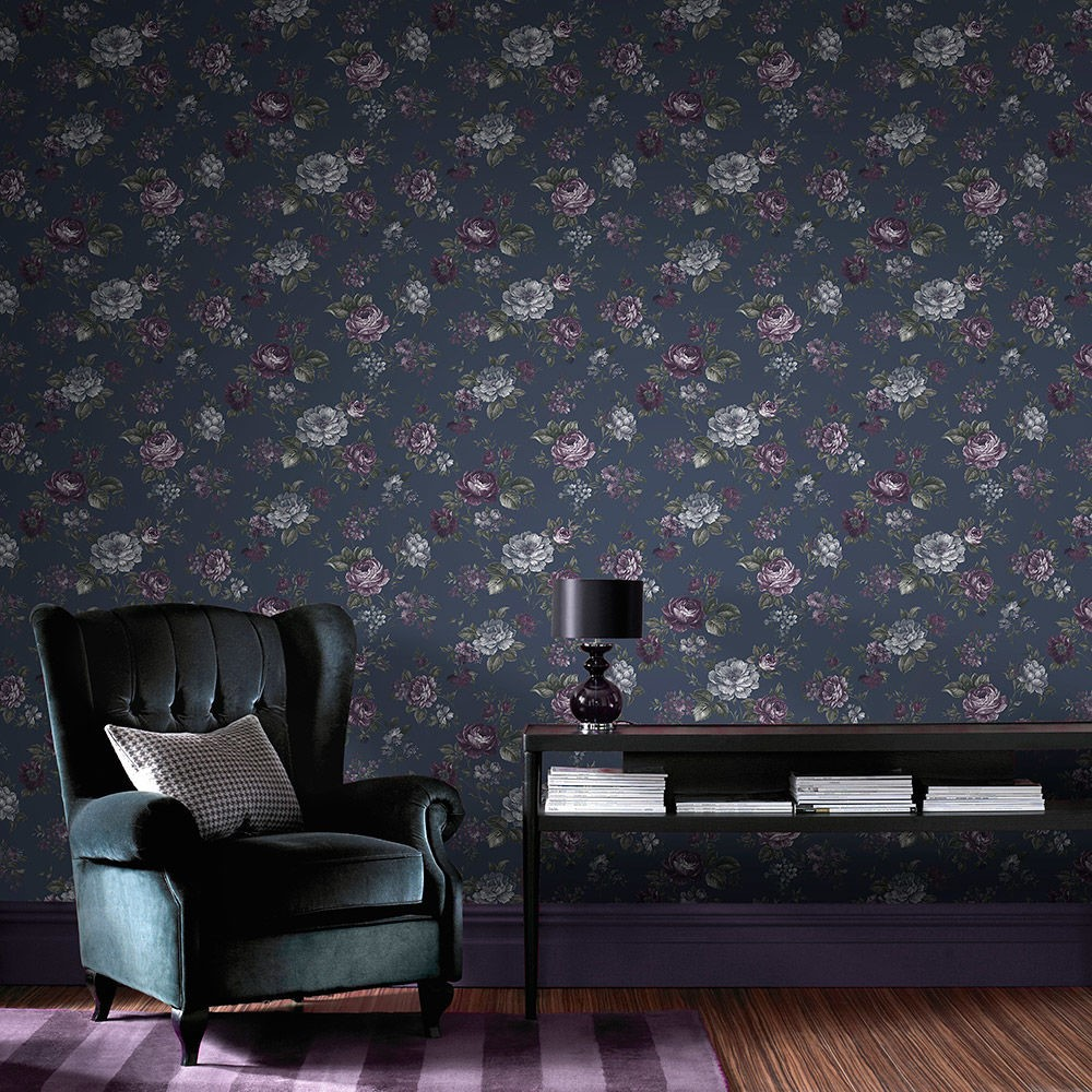 Create a Frenchinspired room with vintage wallpaper