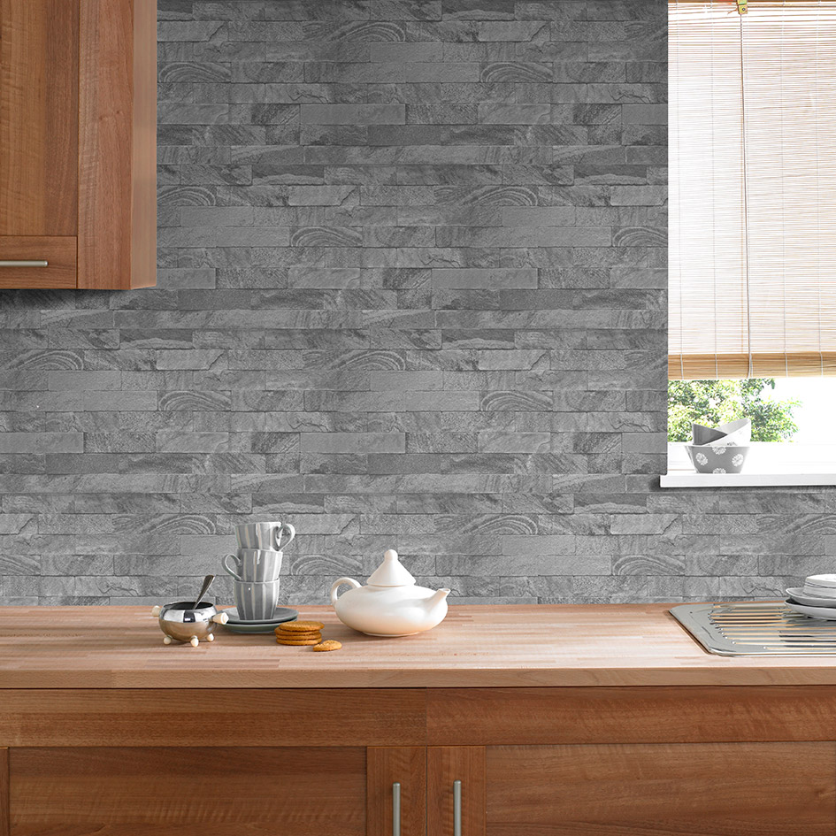wallpaper for kitchen black island cart how to quickly decorate your bathroom
