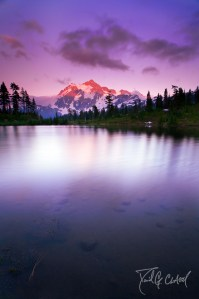 Mt Shuksan Sunset Long Exposure Washington State