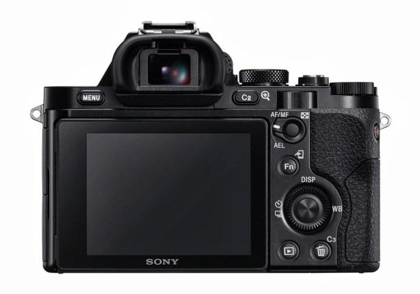 Sony A7R rear controls backside backpanel