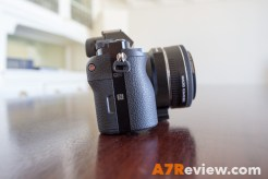 Sony A7R with Metabones EF Adapter and Canon 40mm 2.8 and Metabones EF Adapter other side