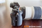 Sony A7R with Metabones EF Adapter and Canon 70-200mm L IS side
