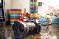 Sony A7R with the Canon 17-40mm charging