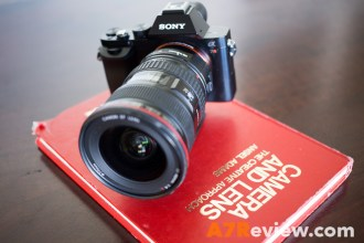 Sony A7R with the Canon 17-40mm front angle