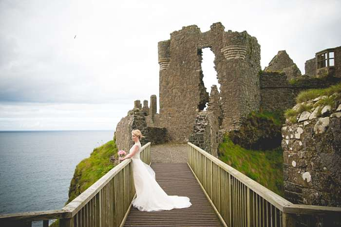 Breathtaking Dunluce Castle Wedding Marcy  Jim  Graham