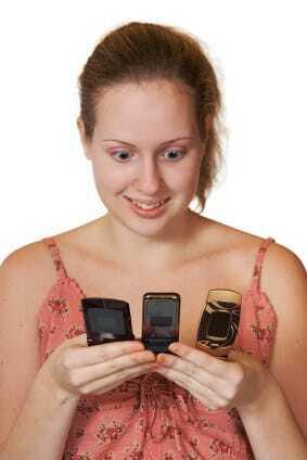 Smartphones in hand