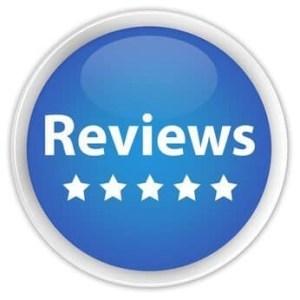 """s""""Reviews"""" blue button"""