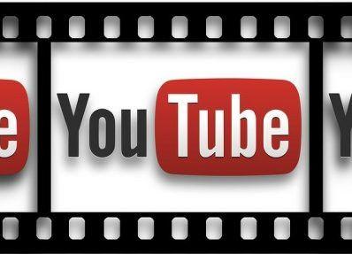 YouTube Logo in film frame