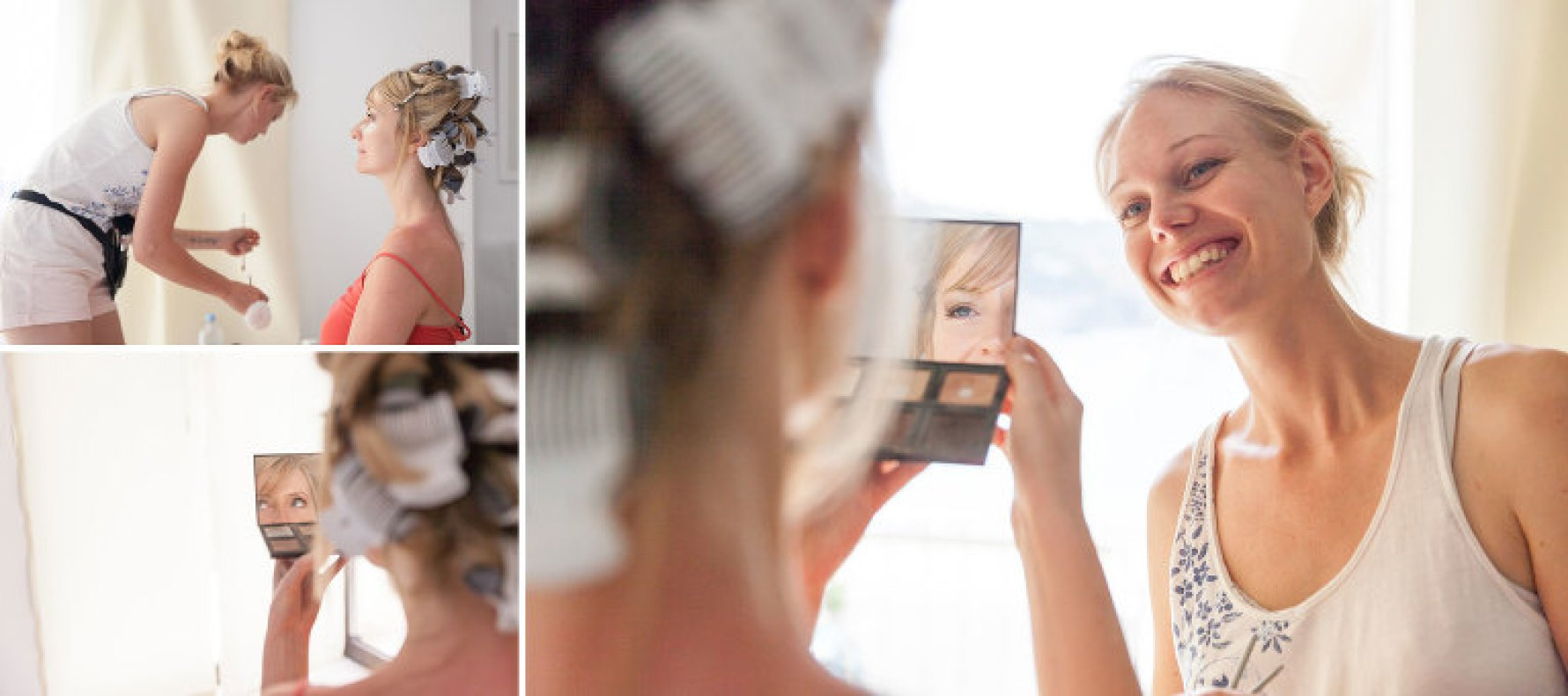 """Make-up check"" by Mallorca wedding photographer in Port de Soller"